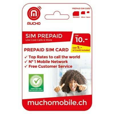 MUCHO SIM 10 FR. ***GRATUIT / CARD
