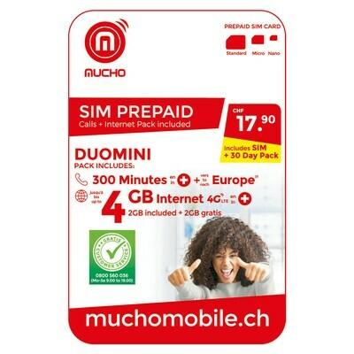 MUCHO SIM 17.90 FR. DUOMINI ***GRATUIT / CARD