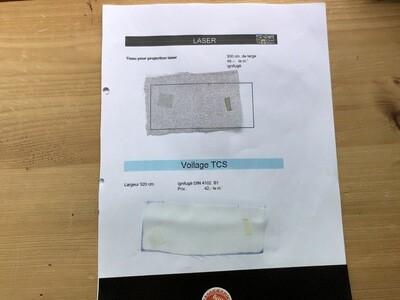 Toile de projection Laser 300 - Voilage TCS 520