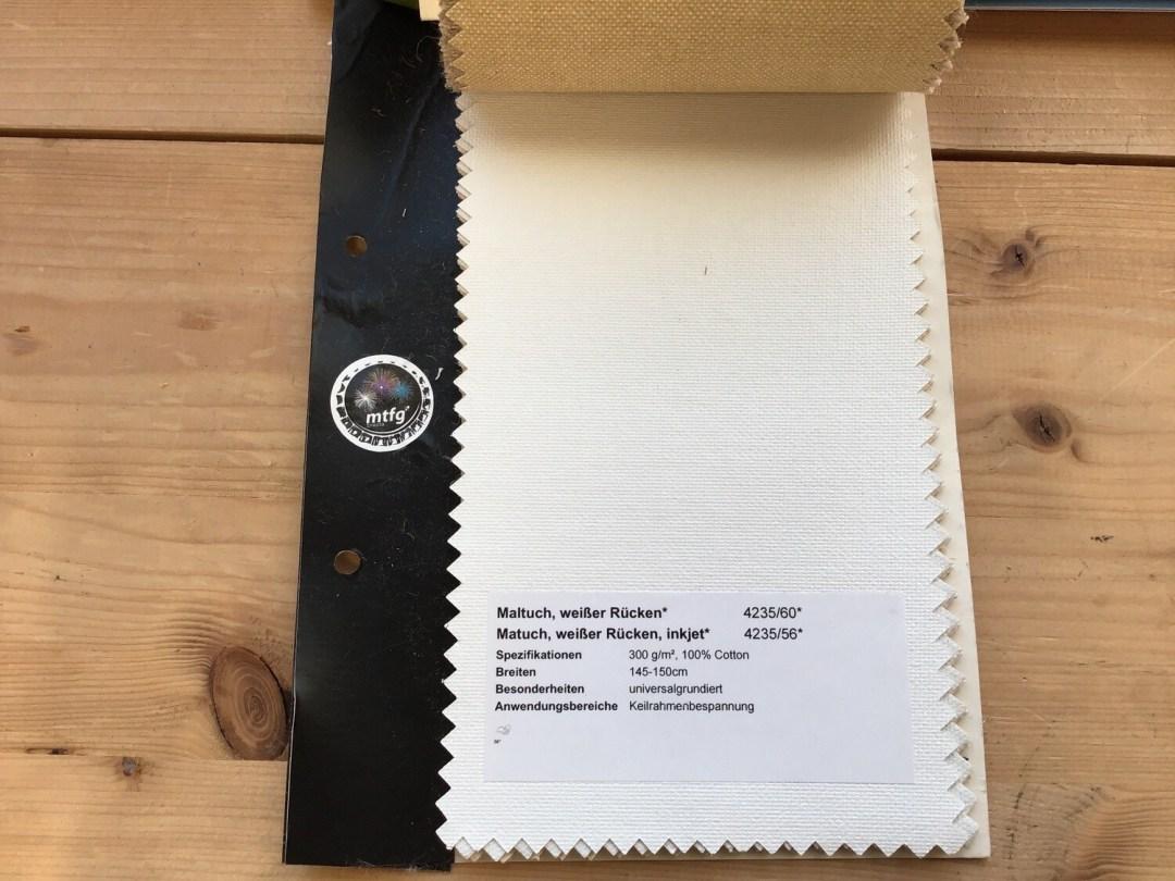 Tissu pour peinture maltuch 145-150