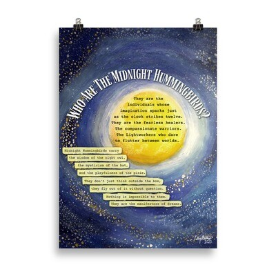 Who Are The Midnight Hummingbirds Poster - 50 x 70 cm