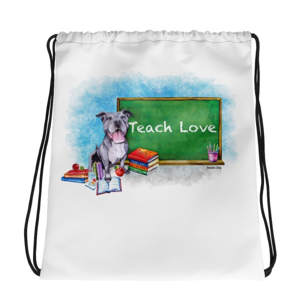 Valerie Teach Love - Drawstring bag