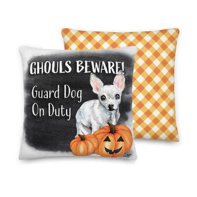 Ghouls Beware Chihuahua Halloween Pillowcase