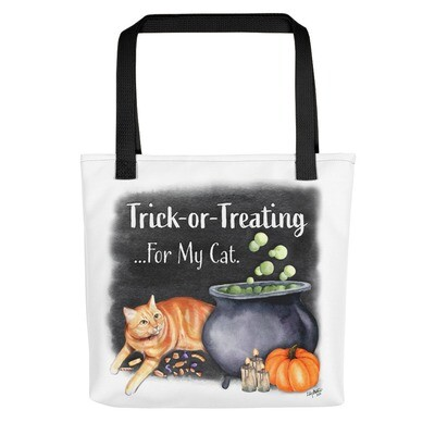Trick or Treating For My Cat Tote bag