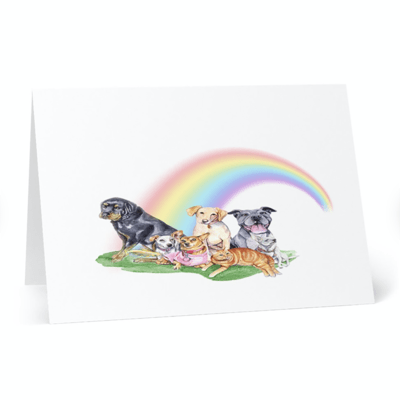 Rainbow Bridge Pet Sympathy Cards