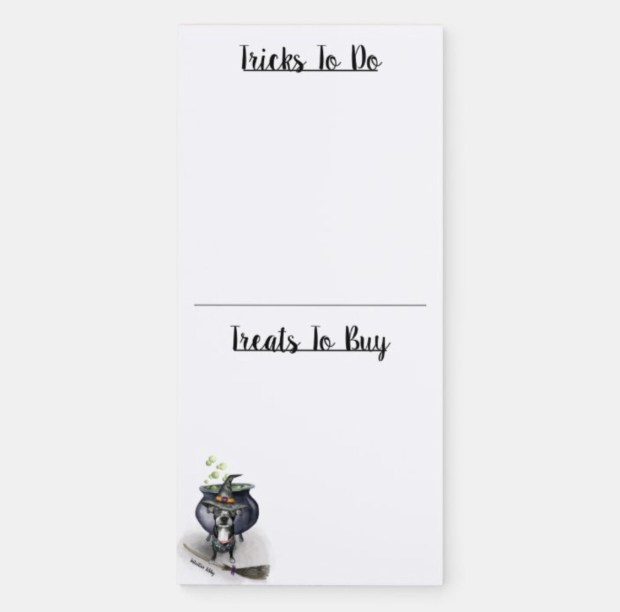 Trick or Treat Magnetic Notepad