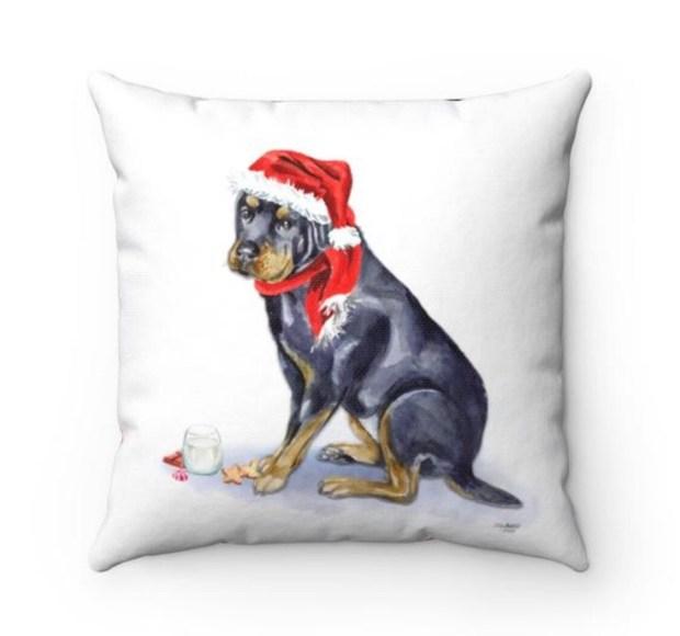Santa (Fur)Baby Pillowcase - Rottweiler