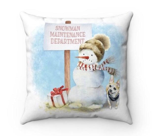 Santa (Fur)Baby Pillowcase - Chihuahua