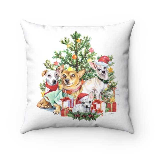 Santa (Fur)Baby Pillowcase - Little Dog Christmas