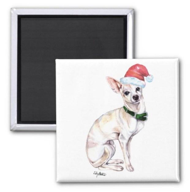 Santa, (Fur)Baby Magnet - Chihuahua Santa