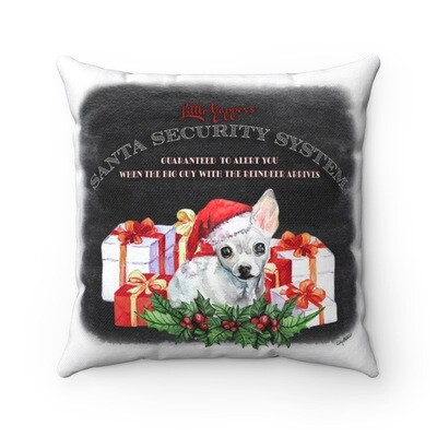 Chihuahua Christmas Pillow - Santa Security