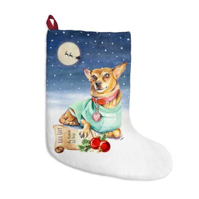 Santa, (Fur)Baby Stocking - Rat Terrier