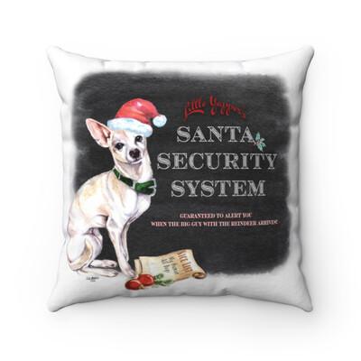 Santa (Fur) Baby Pillowcase - Chihuahua