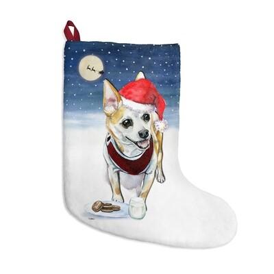Santa, (Fur)Baby Stocking - Chihuahua (Tan)