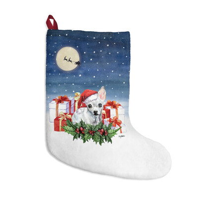 Santa, (Fur)Baby Stocking - Chihuahua (White)
