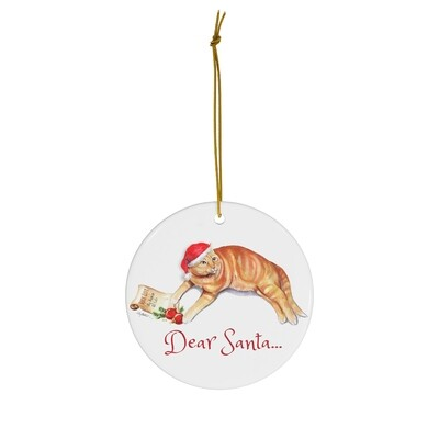Merry Mistletoe Ornament - Cat