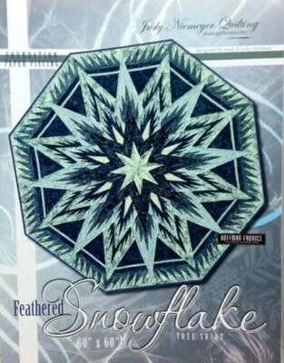 Feathered Snowflake Tree Skirt  (JNQ111P)
