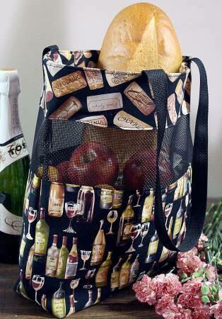 Vinyl Mesh Market Bag CLPTQF001