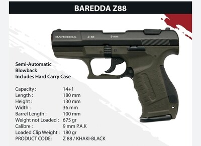 Baredda Z88 Khaki Black