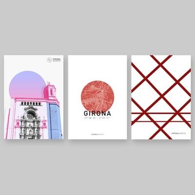 3 pòsters Girona