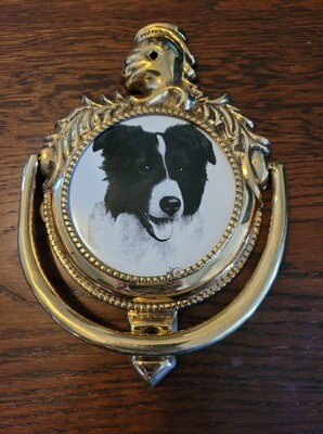 Border Collie Door Knocker