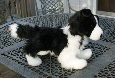 Large Stuffed Standing Classic Border Collie