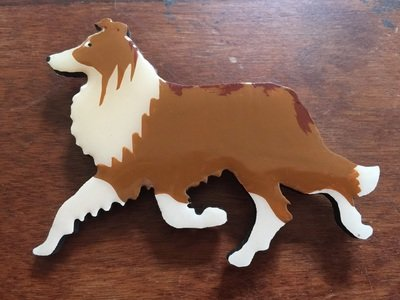 Red & White Border Collie Pin - FREE Shipping