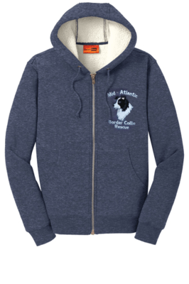 MABCR Embroidered Sherpa-lined, Hooded Fleece Jacket