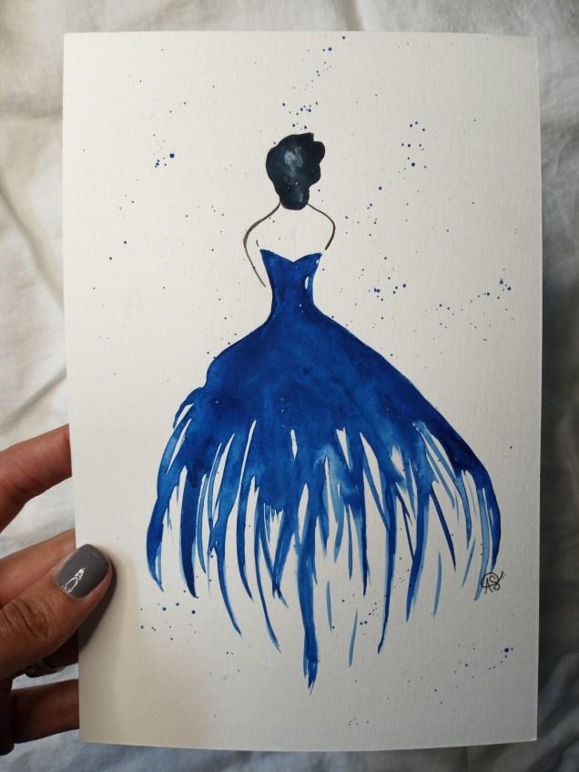 Blue Painted Lady - ORIGINAL