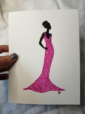 Pink Painted Lady -ORIGINAL