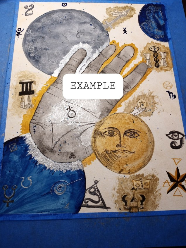 Intuitive Tarot Reading Painting-Commission only