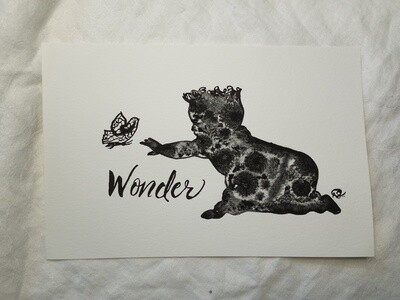 Infant Wonder Butterfly Series - ORIGINAL - watercolor