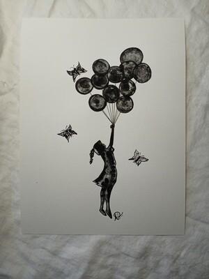 Take Flight Butterfly Series - ORIGINAL - watercolor
