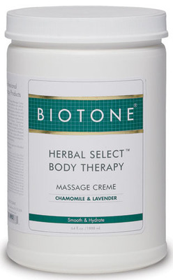 Herbal Select Body Therapy Massage Creme 1/2 Gallon