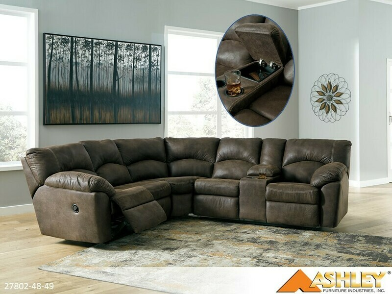 Tambo Canyon Reclining Sectional by Ashley (2 Piece Set)