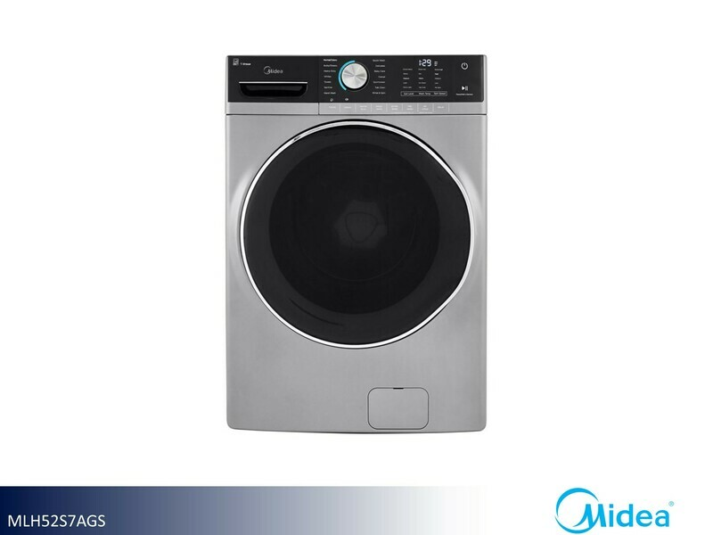 White Front Load Washer by Midea (5.2 Cu Ft)