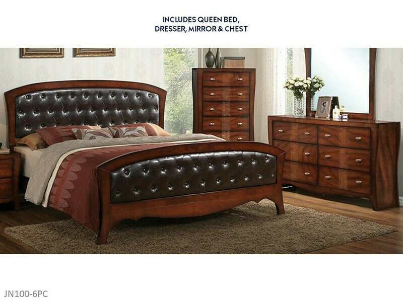 Jenny 6 Pc Bedroom Set by Elements (Queen)