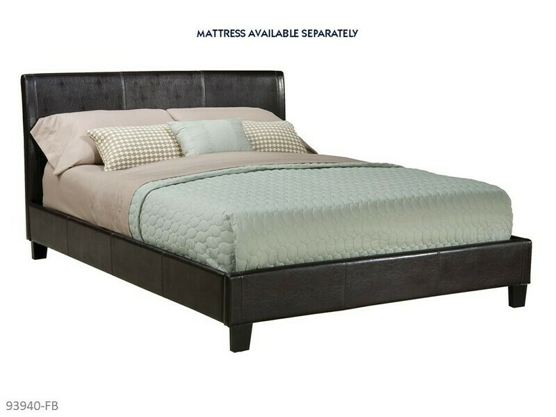 New York Bed with Headboard Footboard Rails by AWFCO (Full)