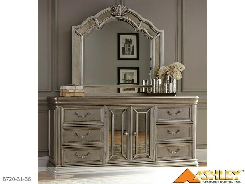 Birlanny Silver Dresser with Mirror by Ashley