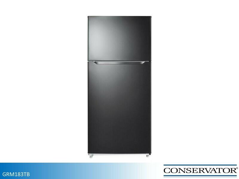 Black 18 cu ft Refrigerator with Top Mount Freezer by Conservator (18 Cu Ft)