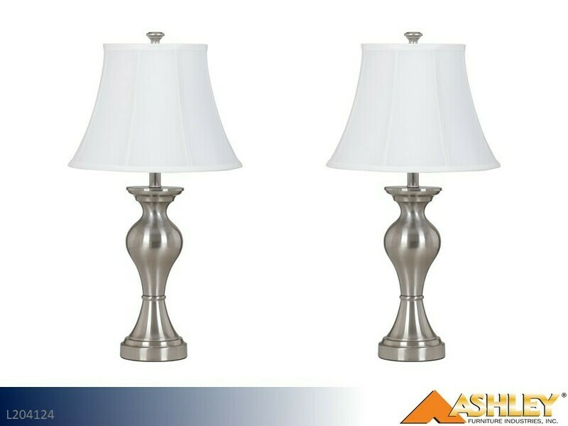 Rishona Brush Silver Lamps by Ashley (Pair)