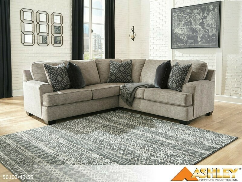 Bovarian Stone Stationary Sectional by Ashley (2 Piece Set)