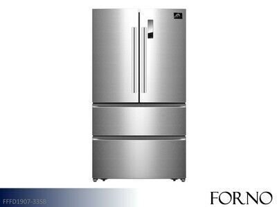 Stainless French Door Refrigerator by Forno (19.7