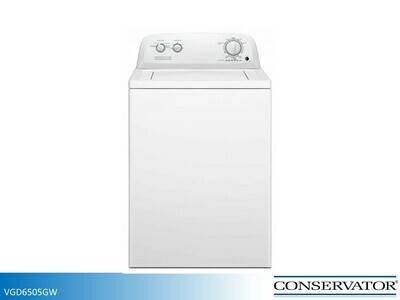 White Gas Dryer by Conservator (6.5 Cu Ft)