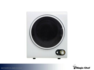 White Compact Dryer by Magic Chef (2.6 Cu Ft)