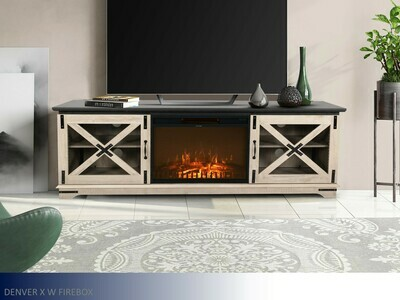Denver Taupe Fireplace by Living Essentials