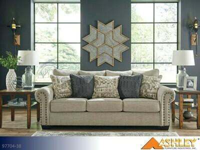 Zarina Jute Stationary Sofa by Ashley