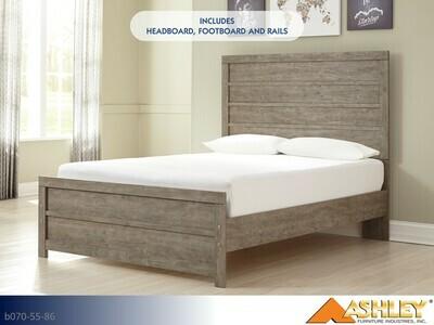 Culverbach Gray Bed with Headboard Footboard Rails by Ashley (Full)