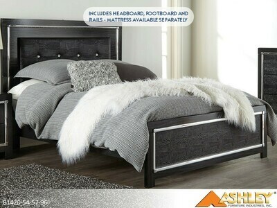 Kaydell Bed with Headboard Footboard Rails by Ashley (Queen)