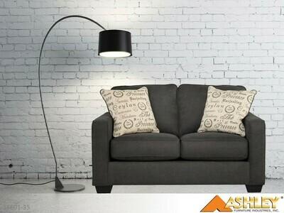 Alenya Charcoal Loveseat by Ashley